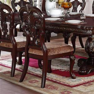Homelegance Deryn Park Traditional Black/Richly Hued Side Chairs (Set of 2)