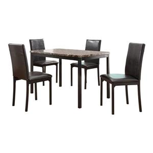 Homelegance Tempe Traditional Dark Brown Side Chair (Set of 4)
