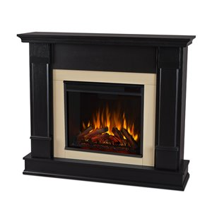 Real Flame 48-in W Black LED Electric Fireplace