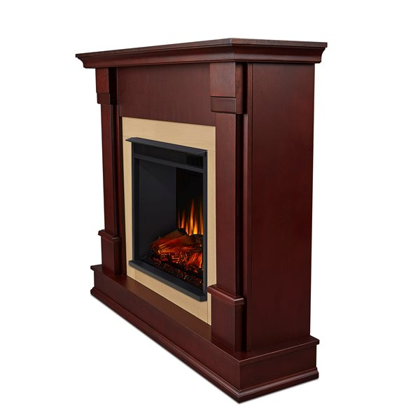Real Flame 48-in W Dark Mahogany Electric Fireplace