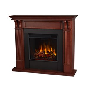 Real Flame 48.03-in W Mahogany Fan Forced Electric Fireplace