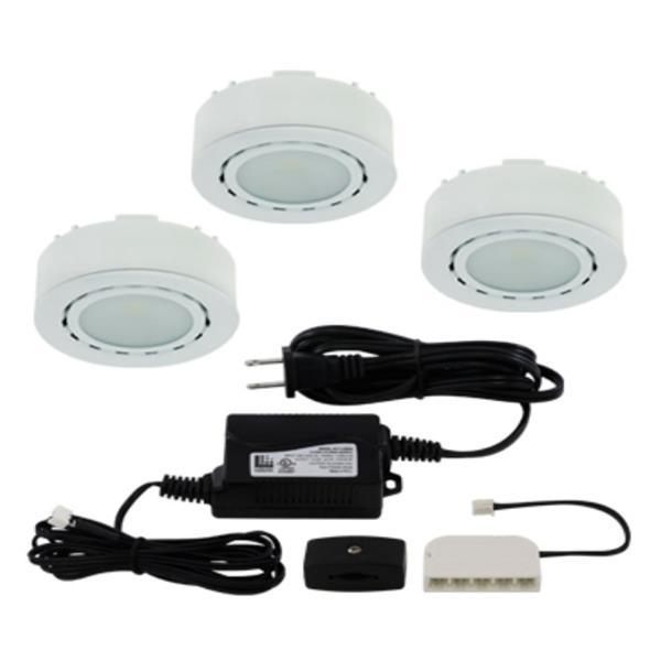 Liteline Corporation LED 4K 12V 2W White 3-Puck Light Kit