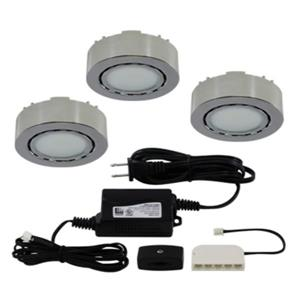 Liteline Corporation LED 4K 12V 2W Chrome 3-Puck Light Kit