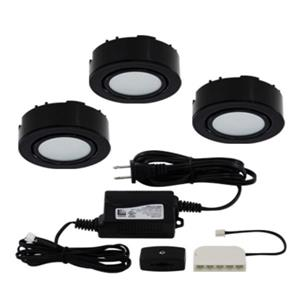 Liteline Corporation LED 4K 12V 2W Black 3-Puck Light Kit