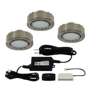 Liteline Corporation LED 3K 12V 2W Matte Nickel 3-Puck Light Kit