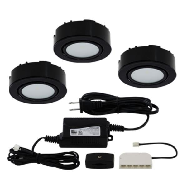 Liteline Corporation LED 3K 12V 2W Black 3-Puck Light Kit