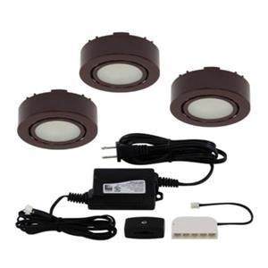 Liteline Corporation LED 3K 12V 2W Brown 3-Puck Light Kit