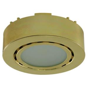 Liteline Corporation 4K 12V 2W Polished Brass LED Single Puck Light