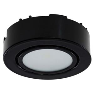 LED Single Puck Light 4K, 12V, 2W - Black