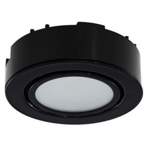 Rondelle au DEL, 3K, 12 V, 2 W - noir