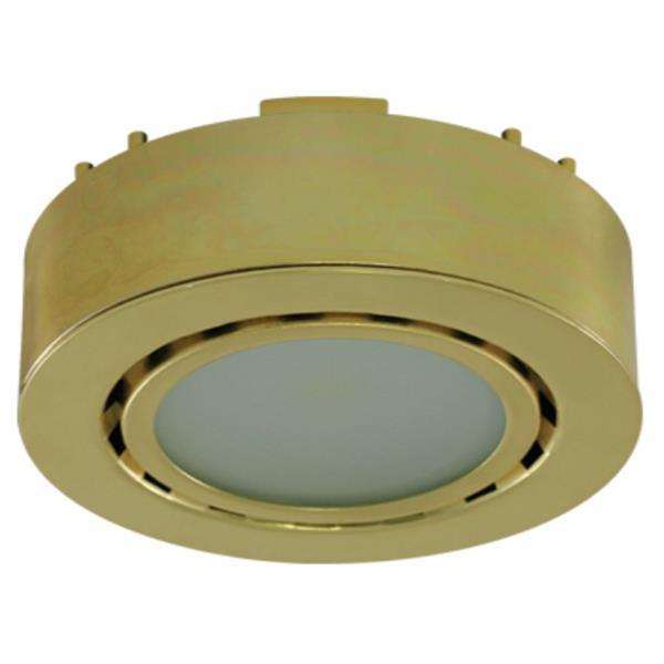 Liteline Corporation 3K 12V 2W Polished Brass LED Single Puck Light