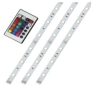 Flexible LED Tape Light Kit, Colour Changing - 3 x 20''