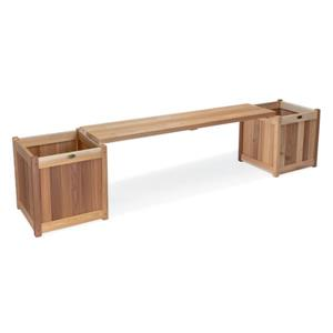 All Things Cedar 20-in x 95.5-in x 19-in 3 Pieces Cedar Natural Planter with Bench