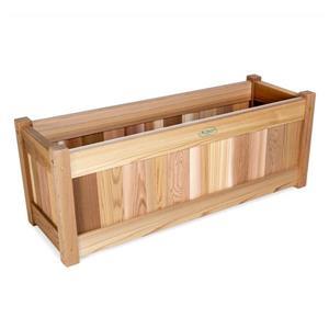 All Things Cedar 32-in x 12-in x 11-in Cedar Natural Planter Box