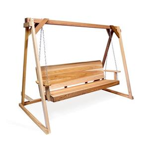 All Things Cedar 5-ft Natural Swing