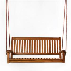 All Things Cedar 26-in x 54-in Brown Teak Swing