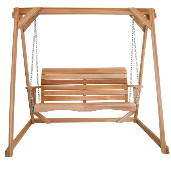 Balançoire en cèdre de All Things Cedar, 4'