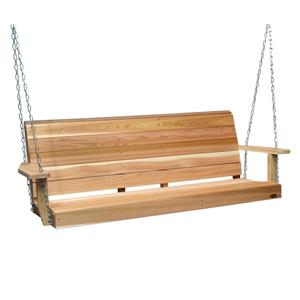 All Things Cedar 24-in x 66-in Natural Porch Swing