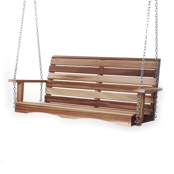 All Things Cedar 24-in x 55-in Natural Porch Swing