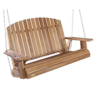All Things Cedar 35-in x 52-in Natural Pergola Garden Swing