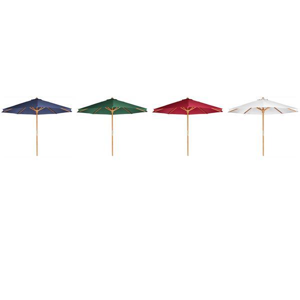 All Things Cedar White Teak Patio Umbrella - 10'