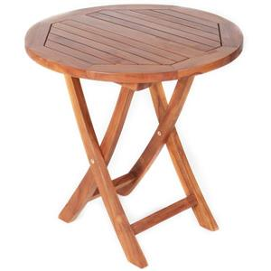 All Things Cedar 26-in Round Teak Side Table