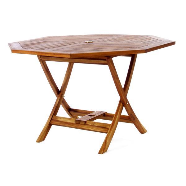 All Things Cedar 48-in Octagon Teak Table
