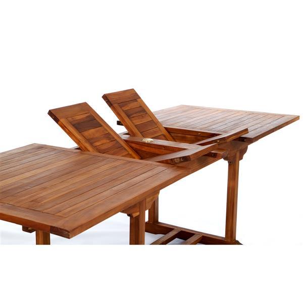 "Table de patio extensible en teck, 36""x 72"""