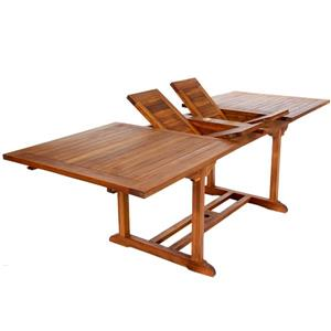All Things Cedar 36-in x 72-in Rectangle Extenstion Teak Table