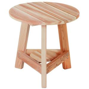 All Things Cedar 21-in Round Tripod Table