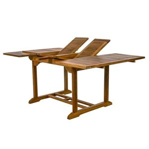 All Things Cedar 50-in Square Teak Extension Table