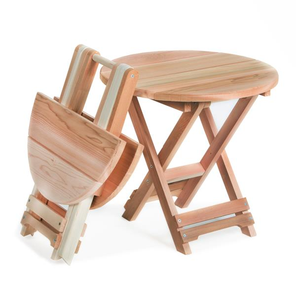All Things Cedar 18-in Round Folding Adirondack Table