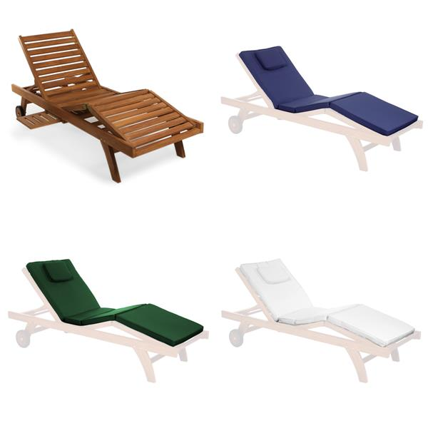All Things Cedar White Cotton Lounge Chair Cushion