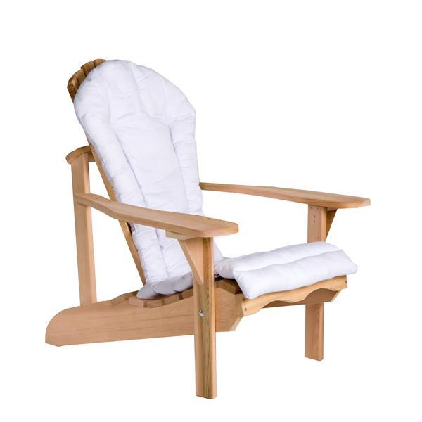 Coussin pour Chaise Adirondack, Blanc