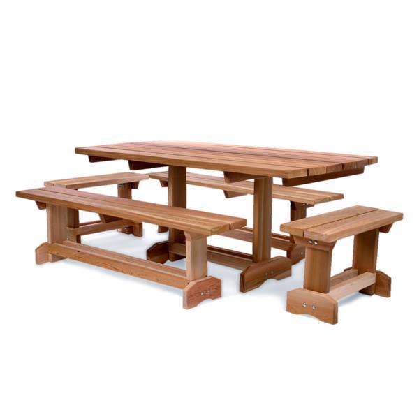All Things Cedar 5-Piece Red Cedar Picnic Table