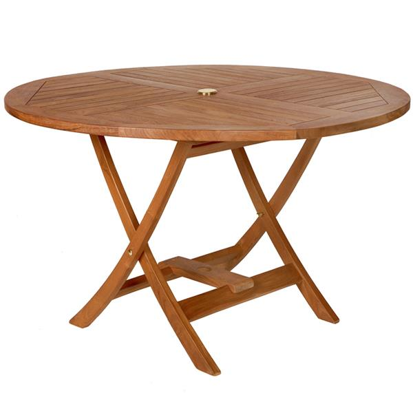 All Things Cedar Teak Round Table and 4 chairs
