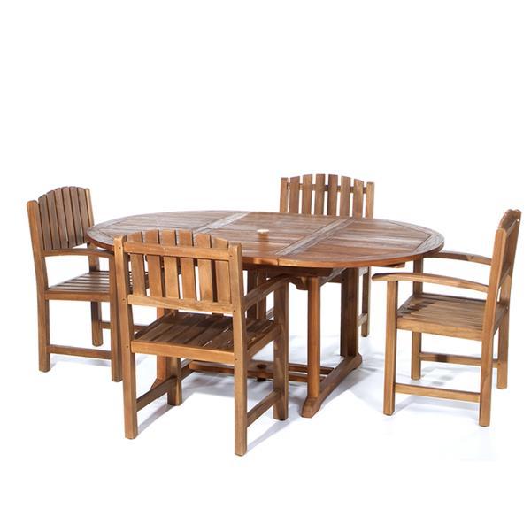 Ensemble chaises et table pour le patio et parasol bleu