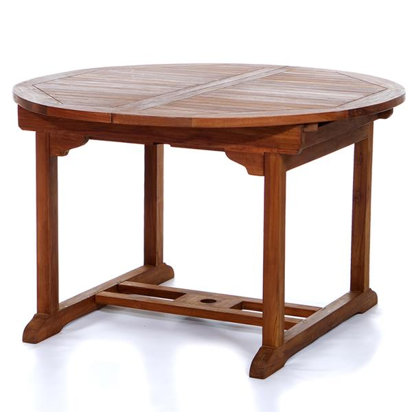 All Things Cedar 7-Piece Teak Oval Table Folding Chair Outdoor Dining Set