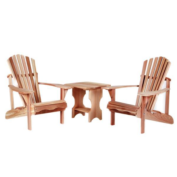 Chaises Adirondack avec table d'appoint, 3 mcx