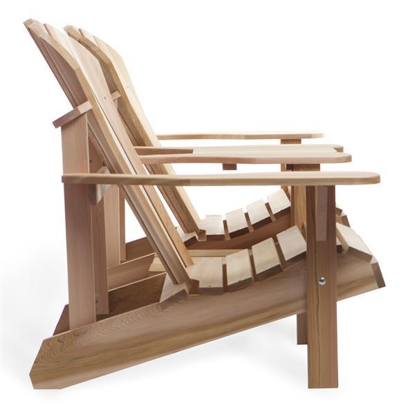 """Ensemble de chaises Adirondack tête-à-tête, 36""""x 36""""x 37"""""""