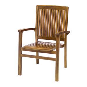 All Things Cedar Stackable Teak Dining Chair