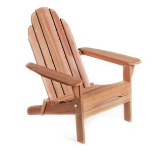 All Things Cedar Andy 31-in x 35-in x 38-in Clear Western Red Cedar Folding Adirondack Chair
