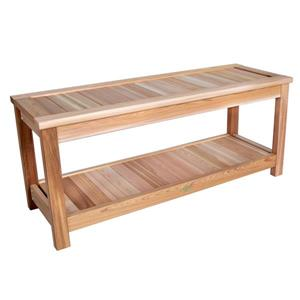All Things Cedar 44-in x 16-in x 19-in Cedar Sauna Bench