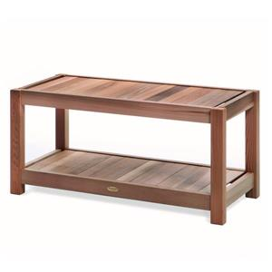 All Things Cedar 39-in x 15-in x 18-in Western Red Cedar Sauna Bench