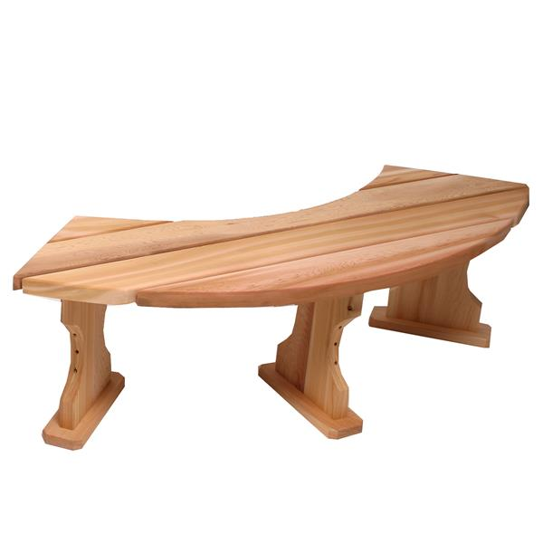 All Things Cedar 60-in x 15-in x 17-in Cedar Backless Feature Bench