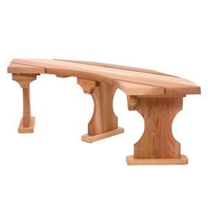 All Things Cedar 60-in x 15-in x 17-in Cedar Backless Feature Bench