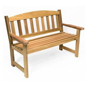 All Things Cedar 52-in x 23-in x 35-in Western Red Cedar Garden Bench