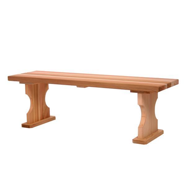 All Things Cedar 45-in x 14-in x 18-in Cedar Backless Bench