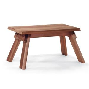 All Things Cedar 10-in x 18-in Brown Foot Stool