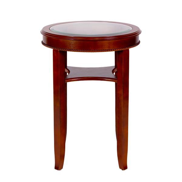 All Things Cedar 18-in x 18-in x 24.5-in Glass Tea Table